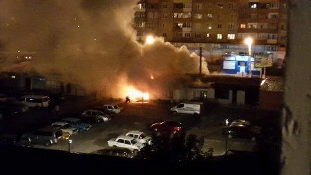 В Кировограде загорелся рынок